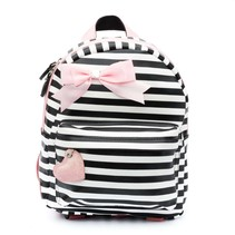 Rugzak (s) stripes black/ pink