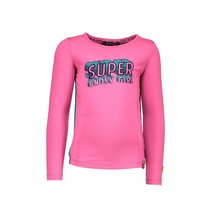 Longsleeve supergirls artwork neon magenta
