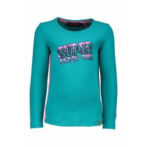 Longsleeve supergirls artwork aqua sky
