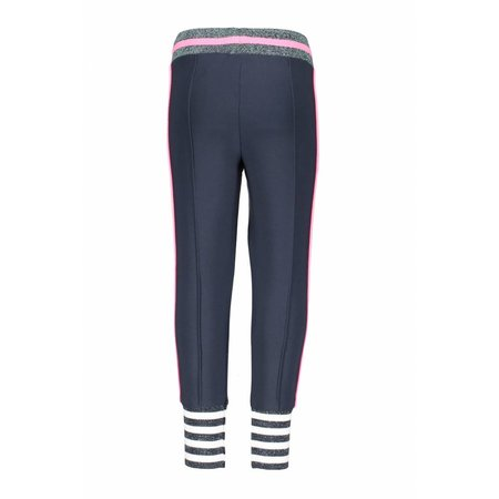 B.Nosy B.Nosy broek with big striped cuffs and knitted contrast tape