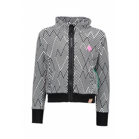 B.Nosy B.Nosy vest allover printed with metallic stripe ao black marshmallow