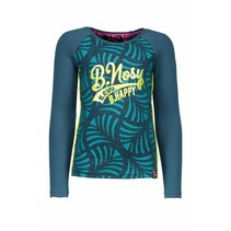 Longsleeve raglan with ao printed body turtle melee/ aqua sky