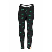 Legging with offline ao print black metallic green