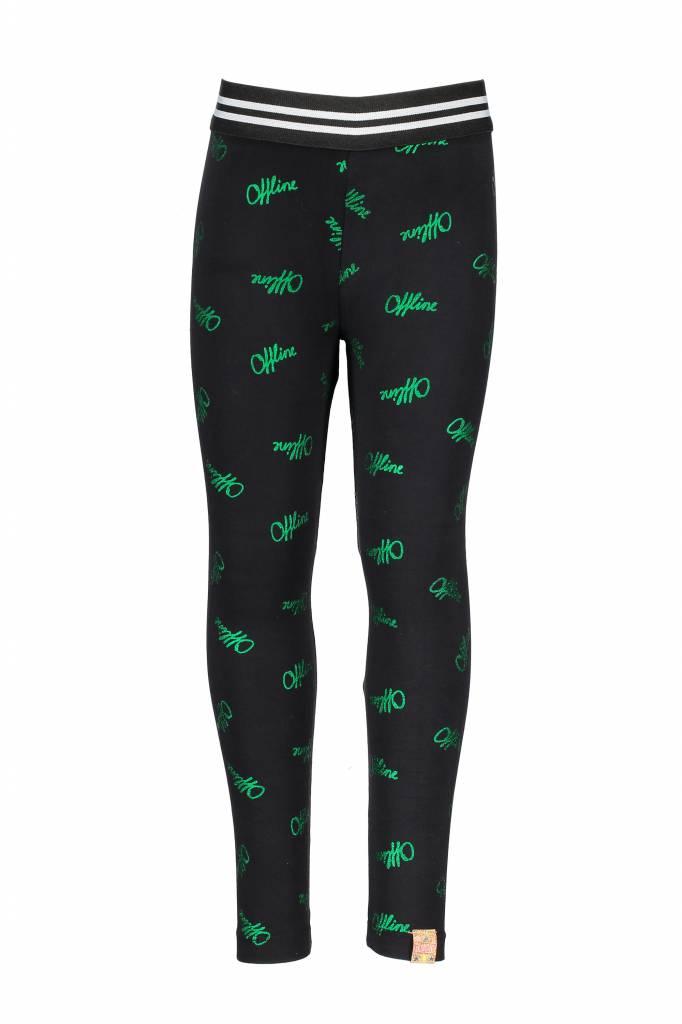 B.Nosy B.Nosy legging with offline ao print black metallic green