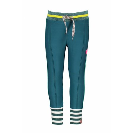 B.Nosy B.Nosy broek with big striped cuffs and knitted contrast tape turtle