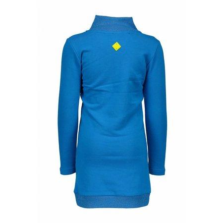 B.Nosy B.Nosy jurk multi colour knitted ruffles cyan