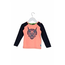 Longsleeve mini with dino hat print tiger