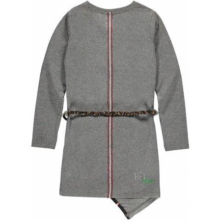 Quapi Quapi jurk Leona grey melee silver