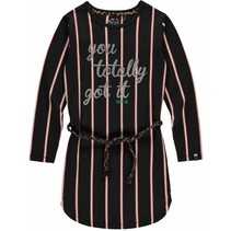 Jurk lamira 2 dark grey stripe