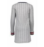 Bampidano Bampidano jurk tunic double fabric belle navy allover