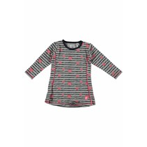 Jurkje a-line stripe & hearts grey melee