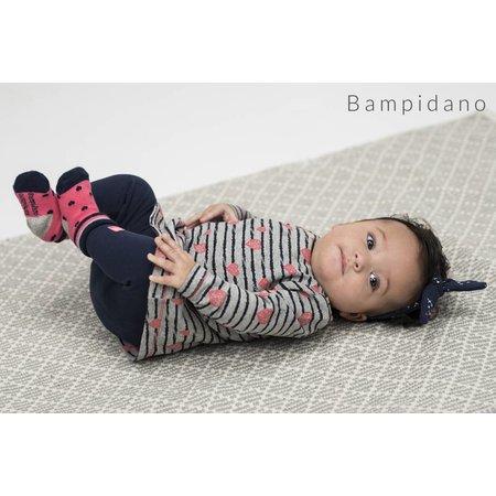 Bampidano Bampidano jurkje a-line stripe & hearts grey melee