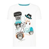 T-shirt Saku camp snow white