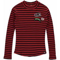 Longsleeve Lieke diva red stripe