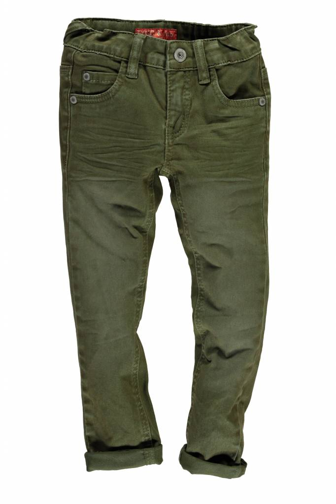 TYGO&vito TYGO&vito skinny spijkerbroek extra soft & stretchy d. army