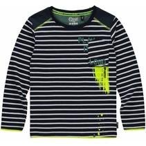 Longsleeve Levi navy stripe