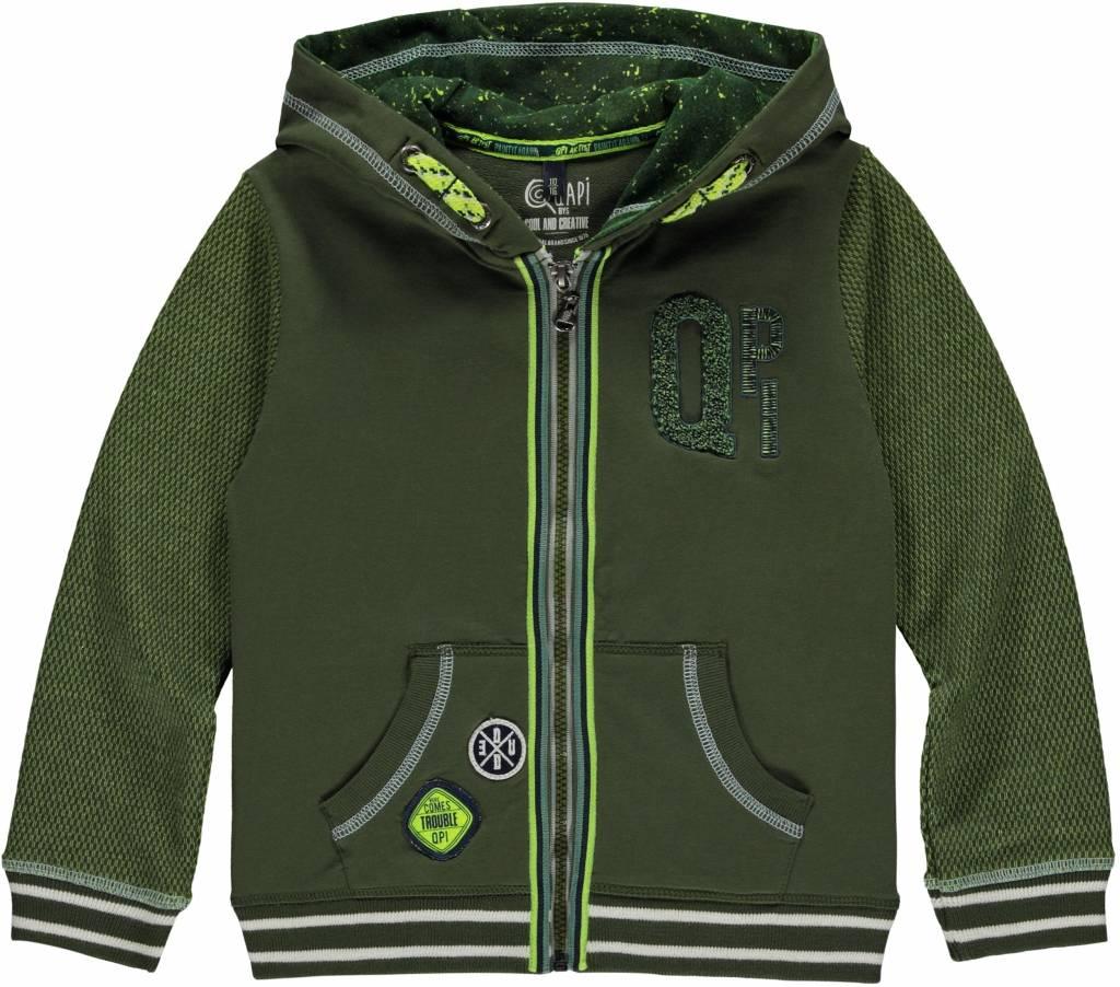 Quapi Quapi vest Linus dark green