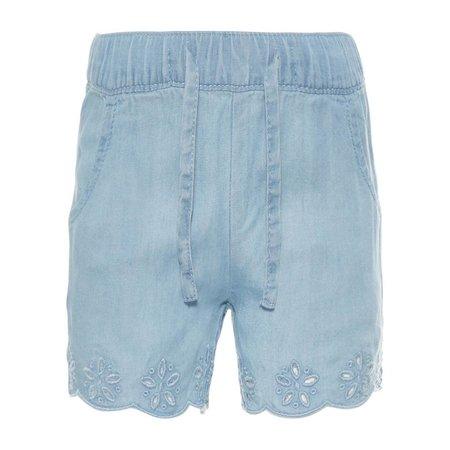 Name It Name It korte broek Randi light blue denim