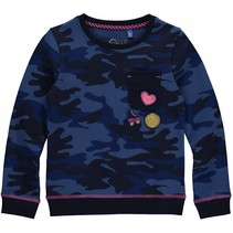 Trui Loes dark blue camouflage