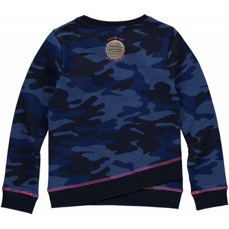 Quapi Quapi trui Loes dark blue camouflage