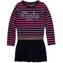 Jurk Lisa dark blue stripe