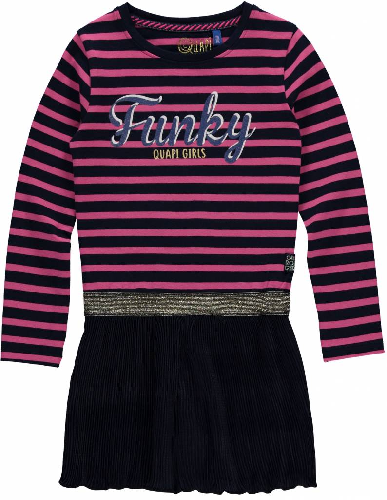 Quapi Quapi jurk Lisa dark blue stripe
