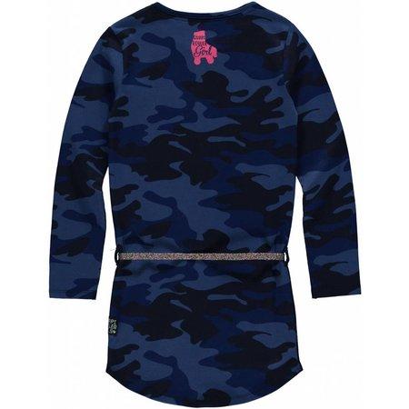 Quapi Quapi jurk Lamira 3 dark blue camouflage