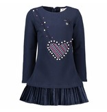 Le Chic Le Chic jurk heart shaped bag blue navy