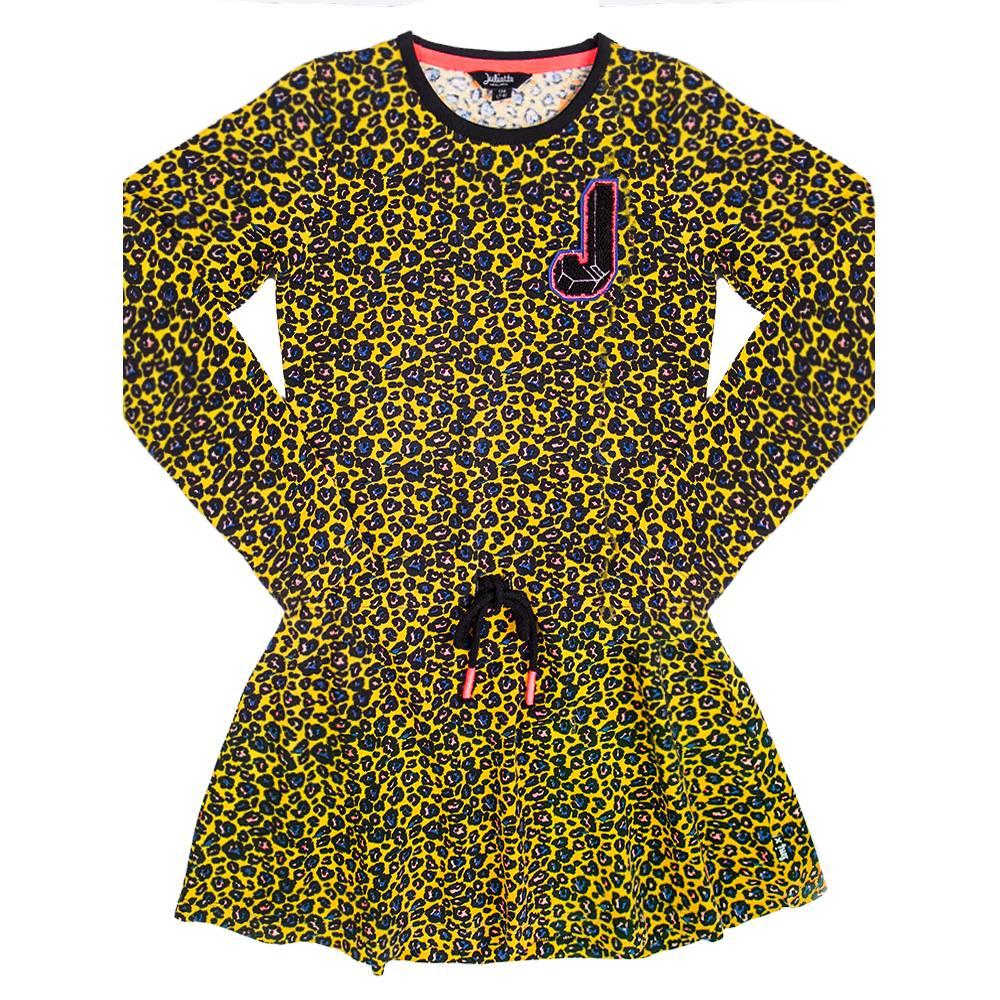 Little Miss Juliette Little Miss Juliette jurk all over Yellow (elvy's wereld)