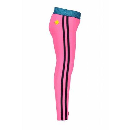 B.Nosy B.Nosy legging with tape on side seam neon magenta