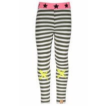 Legging with knee print stripe crocodile marshmallow
