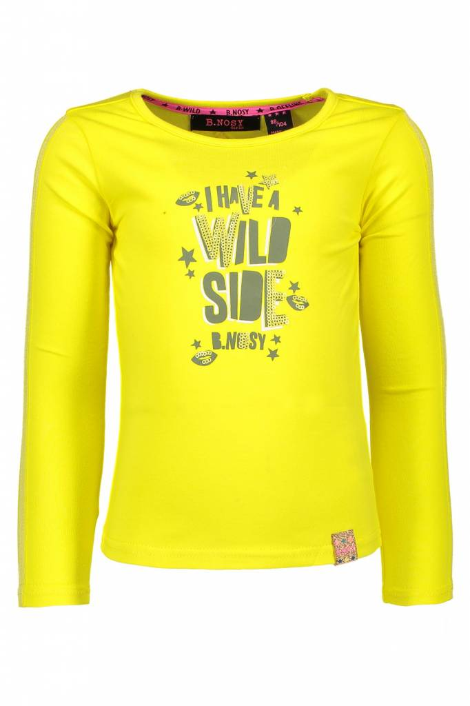 B.Nosy B.Nosy longsleeve with contrast lurex tape canary