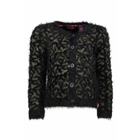 B.Nosy B.Nosy vest panther knit black/ croco