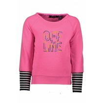Trui with raglan sleeves neon magenta