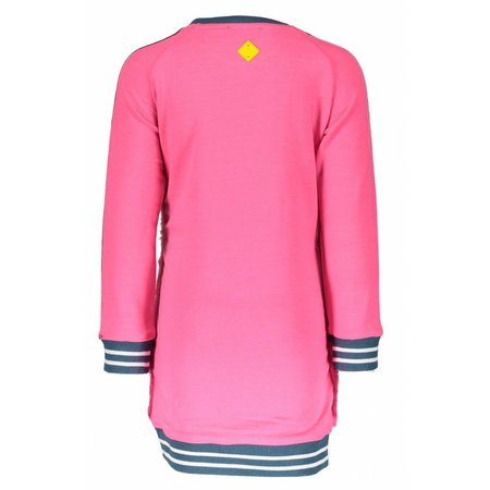 B.Nosy B.Nosy jurk fluffy neon magenta