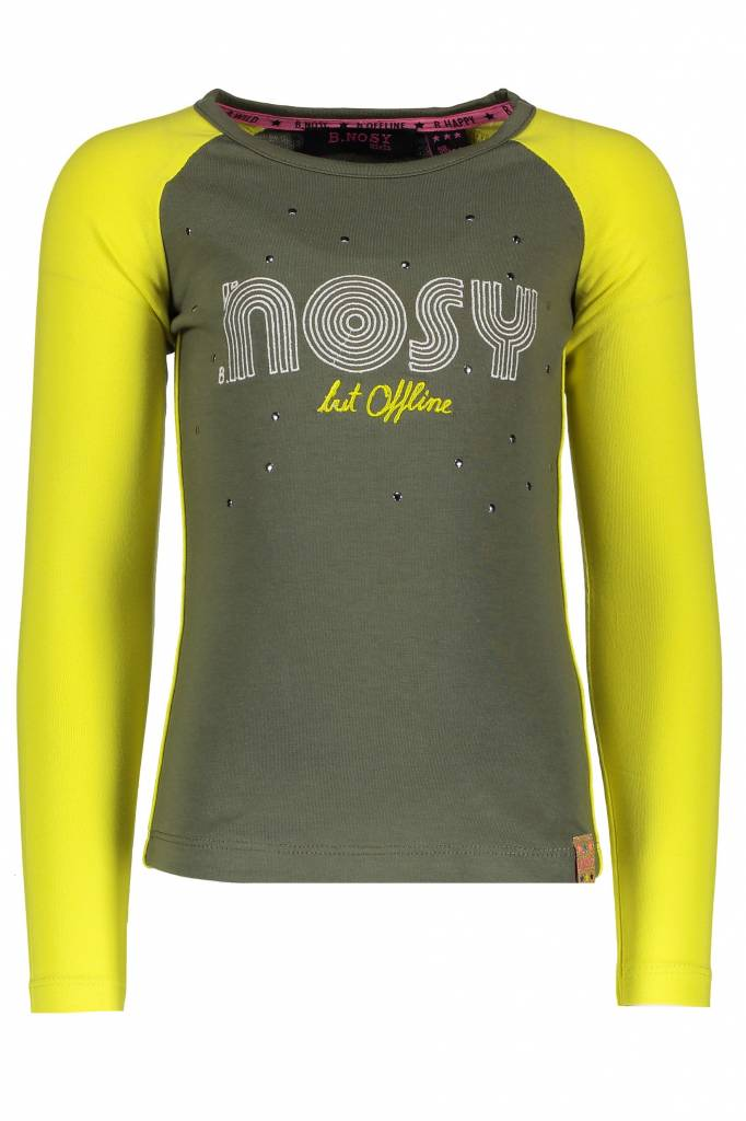 B.Nosy B.Nosy longsleeve with contrast raglan sleeves crocodile melee