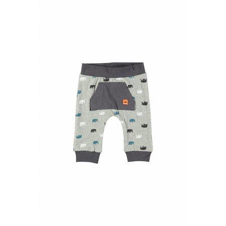 Bampidano Bampidano broekje with front pocket stripe grey melee