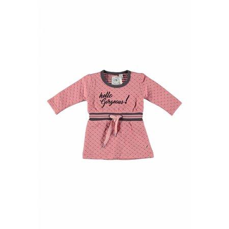 Bampidano Bampidano jurkje double fabric dress pink