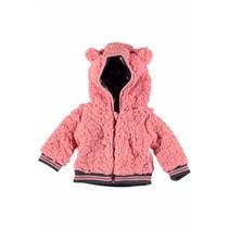 Jasje hooded teddy pink