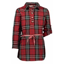 Jurk flanel woven red check