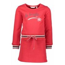 Jurkje sweat dress red