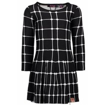 Jurk intarsia knitting fence ao black
