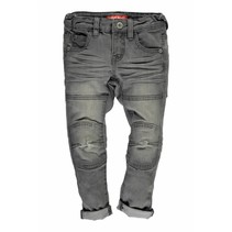 Skinny spijkerbroek dbl kneepatches m. grey denim
