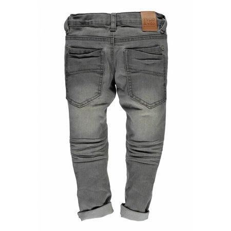 TYGO&vito TYGO&vito skinny spijkerbroek dbl kneepatches m. grey denim