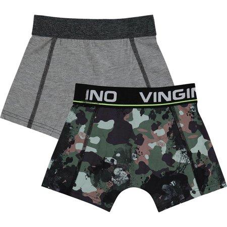 Vingino Vingino boxershorts Hide 2-pack army all-over