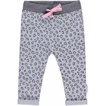 Broekje Zarina light grey leopard