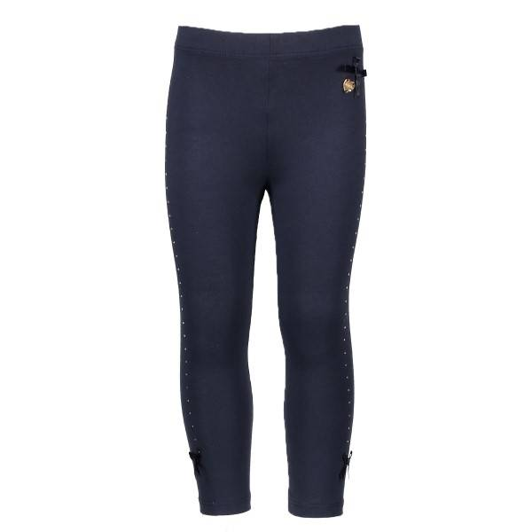 Le Chic Le Chic legging rhinestones at sides blue navy