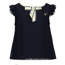 T-shirt fancy voile blue navy
