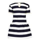 Le Chic Le Chic jurkje relief stripe blue navy