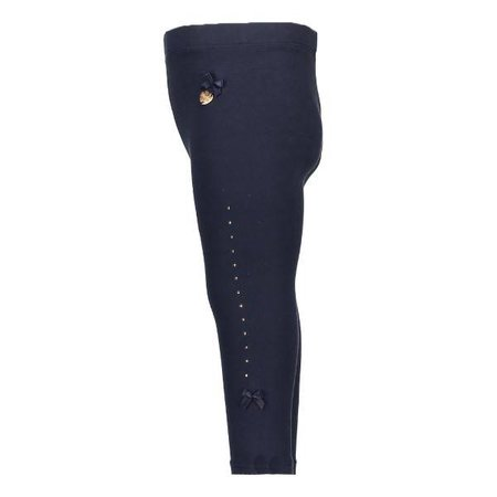 Le Chic Le Chic legging baby rhinestones at sides blue navy